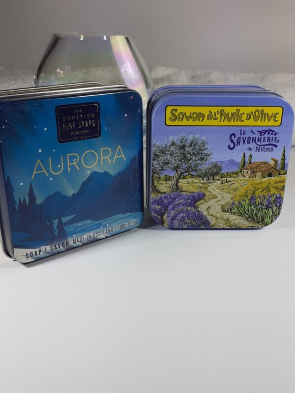 Tins of soap